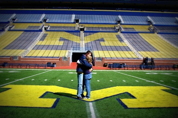 Proposal at Wolverine Stadium