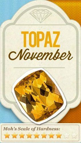 November Birthstone topaz