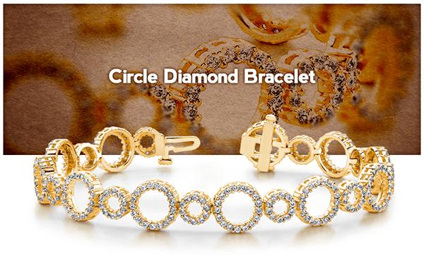 Circle Diamond bracelet