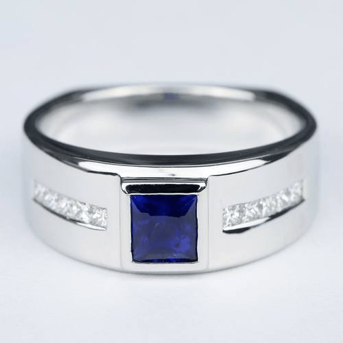 blue sapphire orion diamond management ring