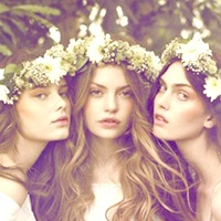 Floral and bejeweled headpieces