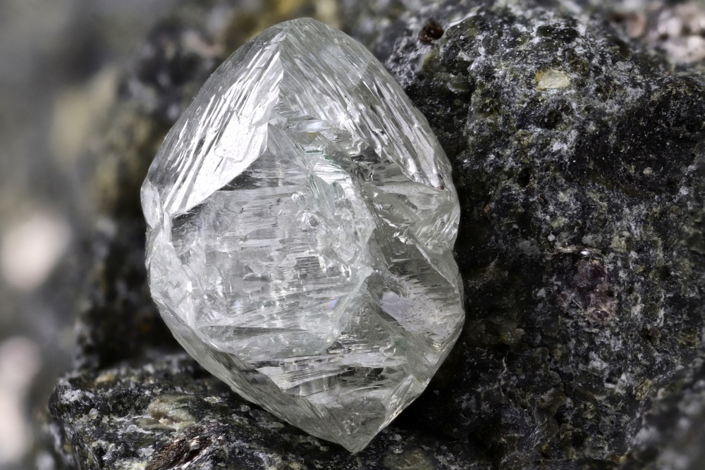 Natural diamond in kimberlite
