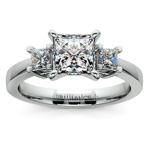 Princess Diamond Ring in Platinum