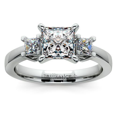 Princess Diamond Ring in Platinum
