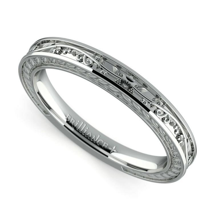antique floral diamond wedding ring