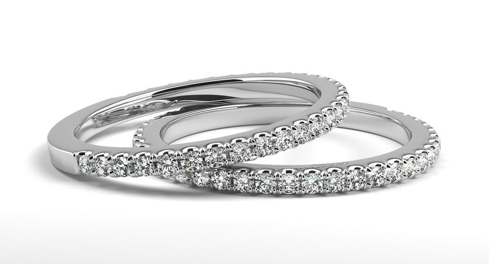 diamond curved made order wedding custom stacking products rings designed to evary band