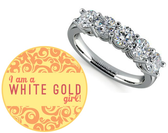 White gold is a good choice for those who like their jewelry timeless and  understated. It is also the best kind of precious metal color for people  with cool ...