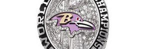 Diamond Studded Ravens Super Bowl Rings