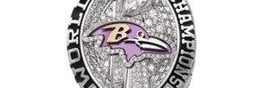 Diamond-Studded Ravens Super Bowl Rings