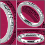 Pave Diamond Eternity Ring in White Gold