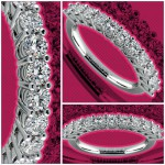 Eleven Diamond Wedding Ring in Platinum
