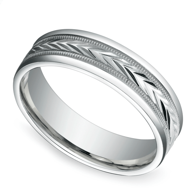 Harvest Milgrain Men's Wedding Ring