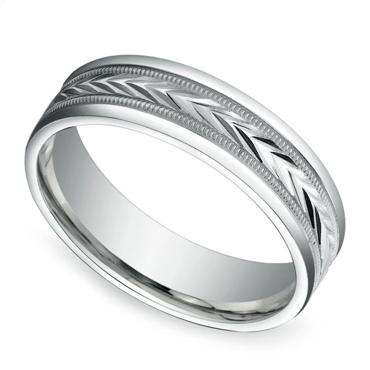 Harvest Milgrain Men's Wedding Ring