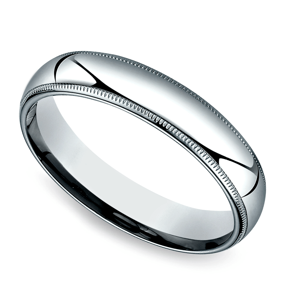 Multi Milgrain Men's Wedding Ring