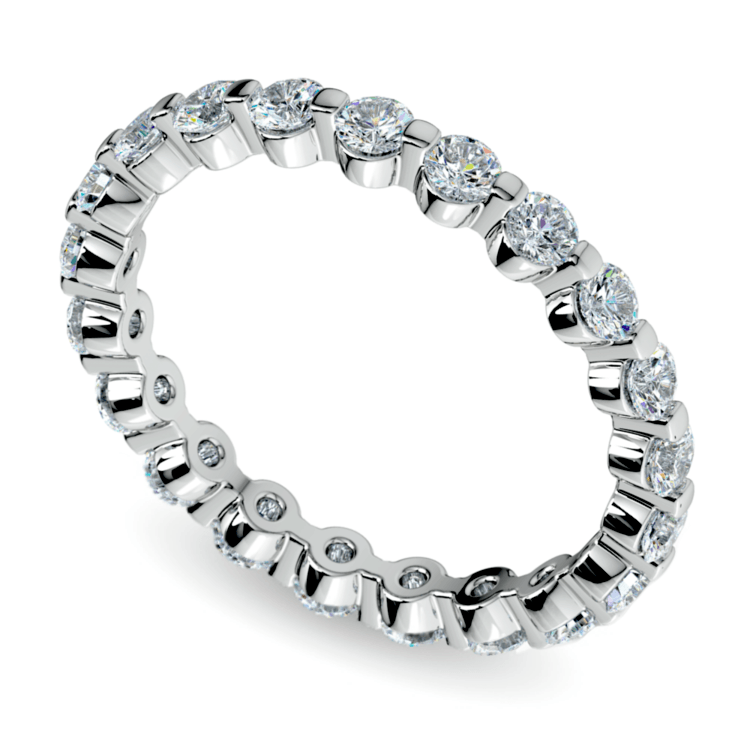 Floating Diamond Eternity Ring In White Gold
