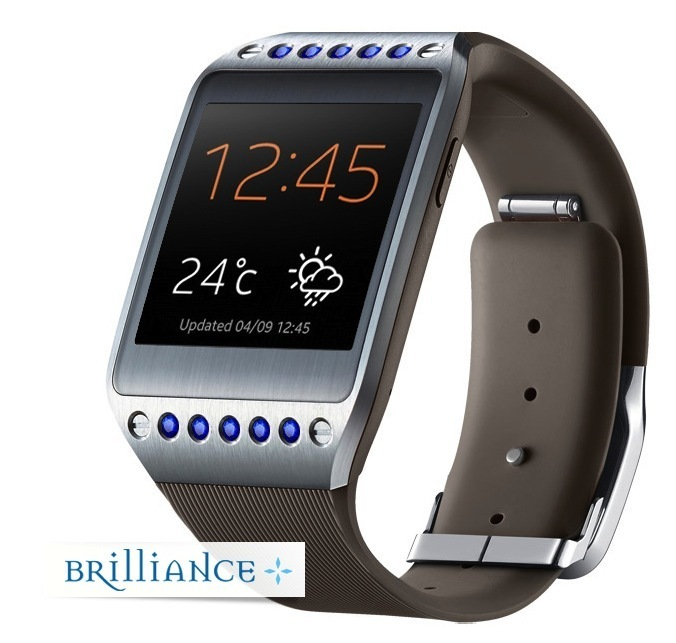 galaxy brilliance gear watch brown sapphire side