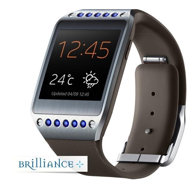 galaxy brilliance gear watch brown sapphire side