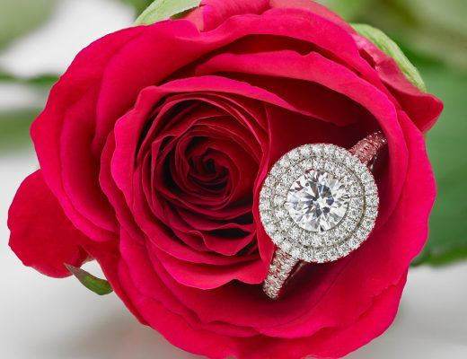 square halo diamond ring