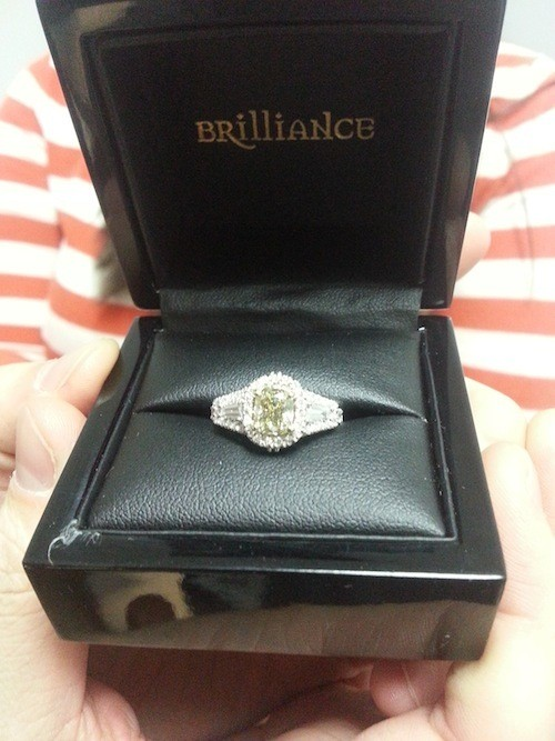 Brilliance Engagement Ring in Gift box