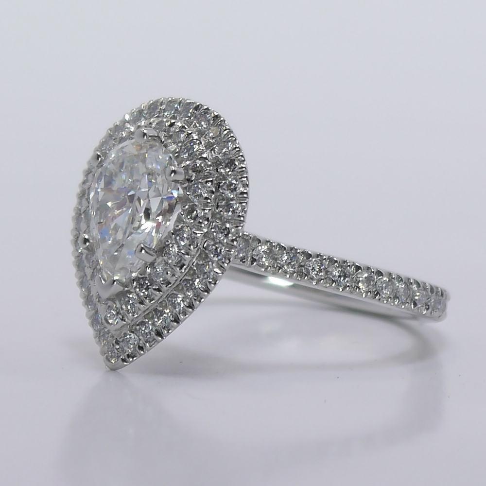 Doppel Halo Diamant Verlobungsring