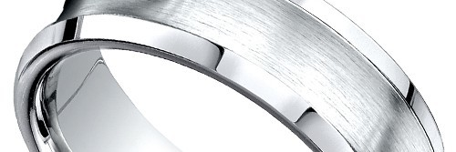Concave Beveled Men's Wedding Ring in Palladium