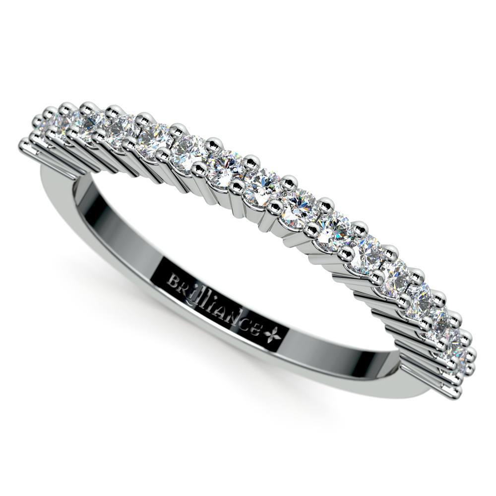 Shared Prong Diamond Wedding Ring