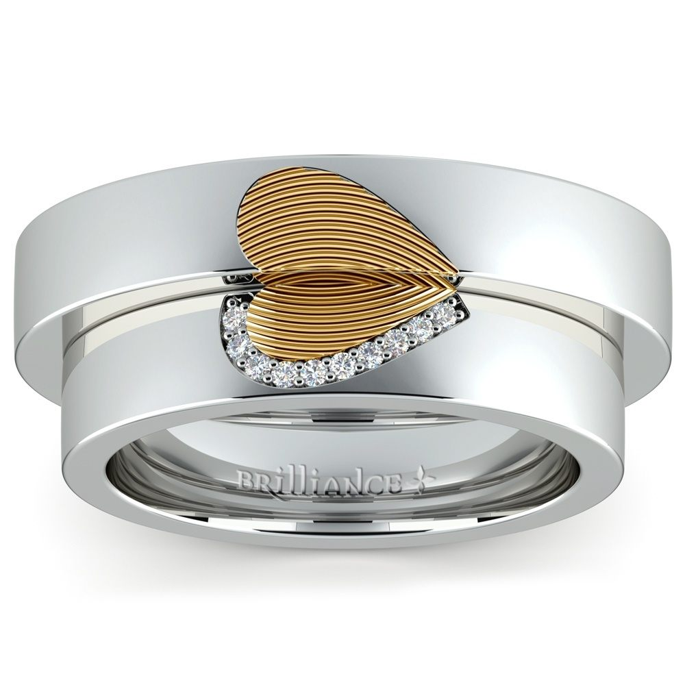 Unique Fingerprint Design Wedding Ring