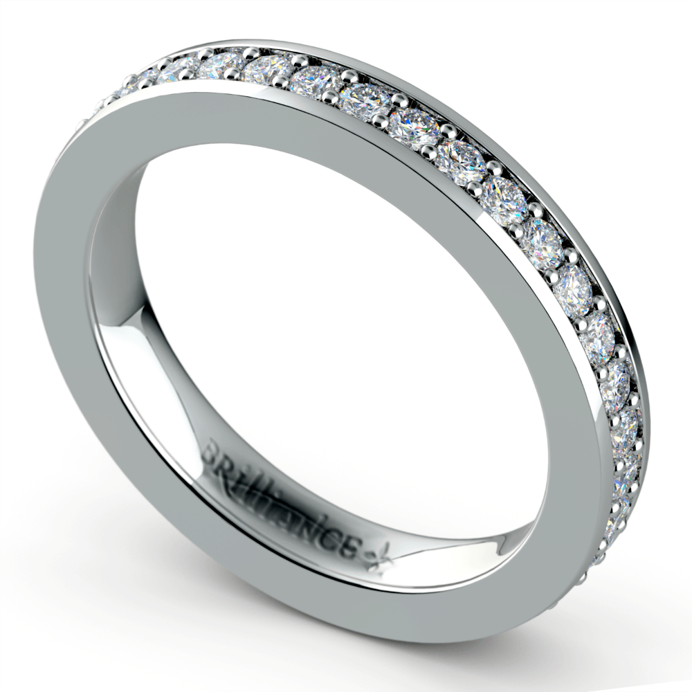 Pave Diamond Eternity Ring in Platinum