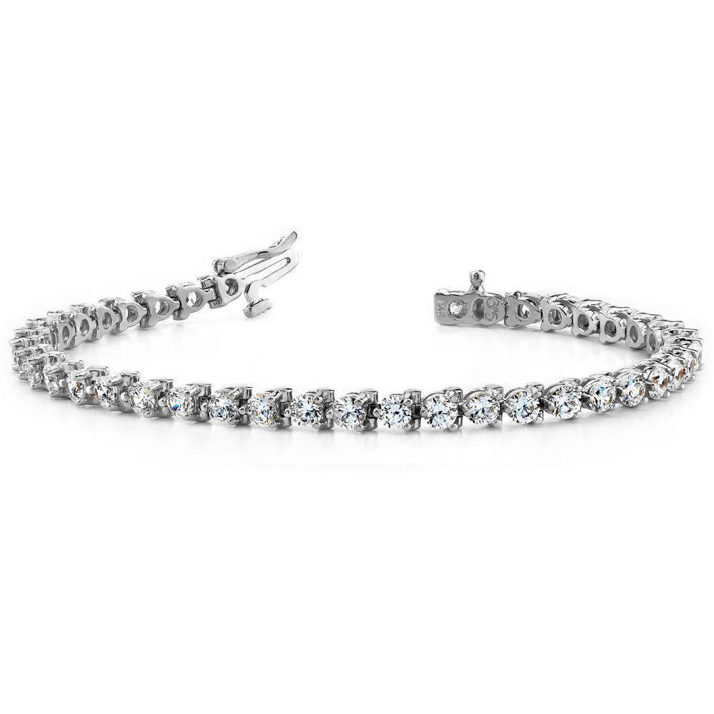 Three Prong Diamond Tennis Bracelet