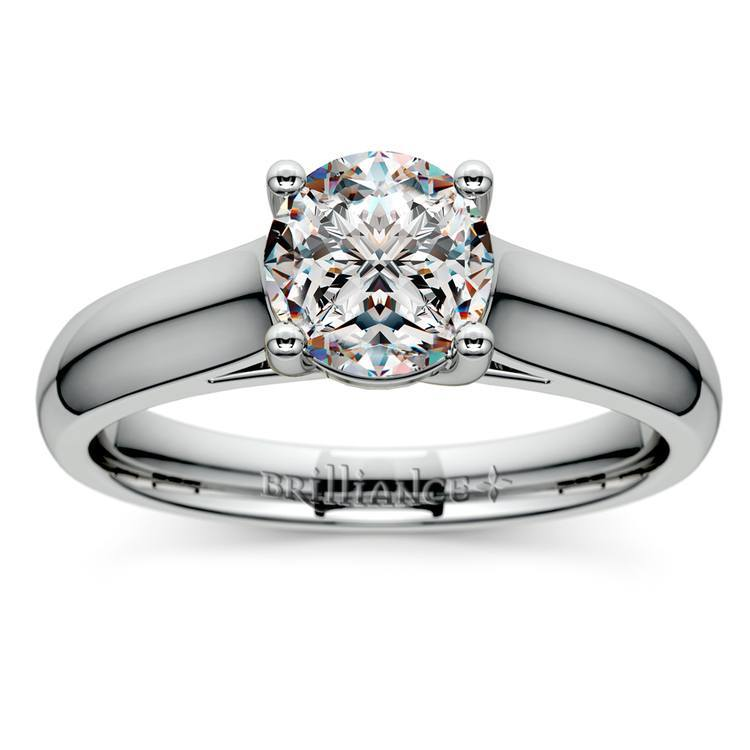 Trellis Solitaire Ring in Platinum