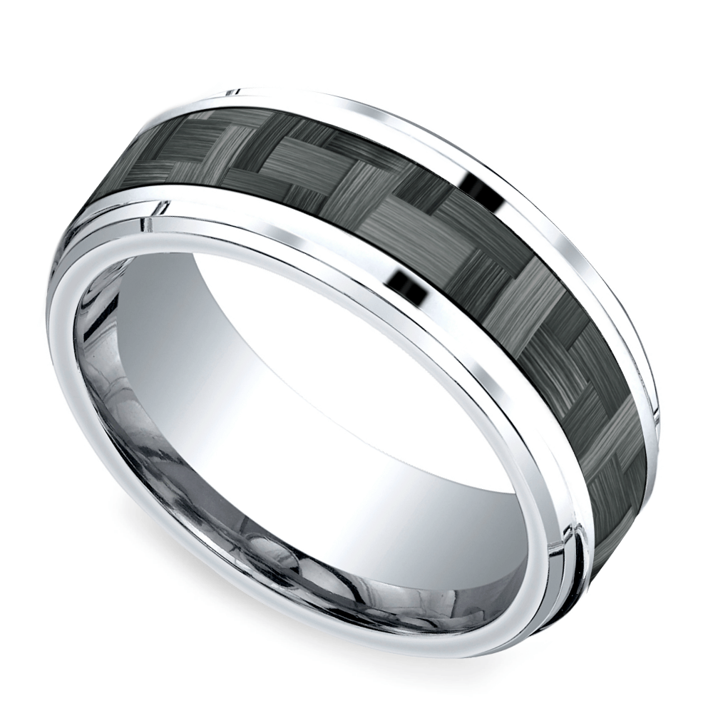 wedding rose ring media brushed by inlay masculine meteorite mens band his gold engagement hers rings bands paradi and tungsten