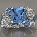 Custom Diamond & Sapphire Ring Eye Candy