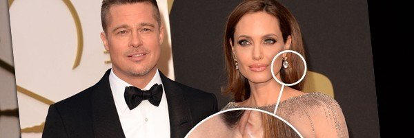 Angelina Jolie diamond earring