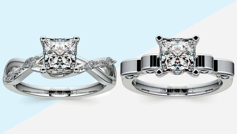 Princess Cut Wedding Ring Sets