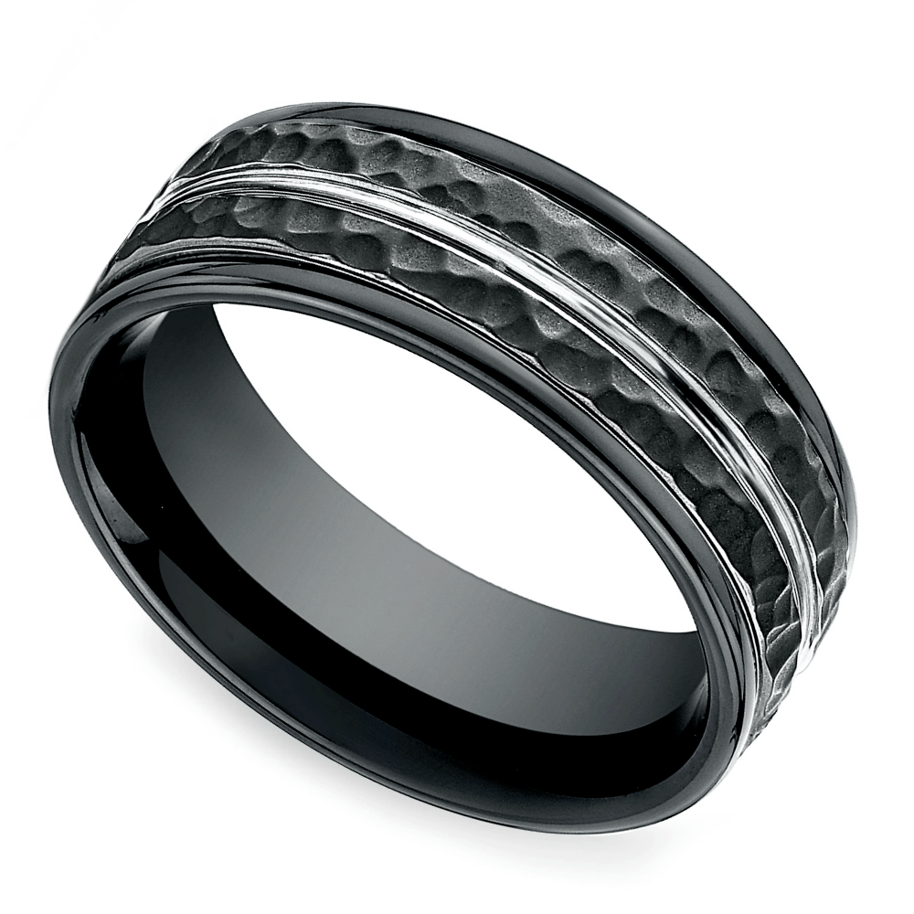 Hammered Men's Wedding Ring