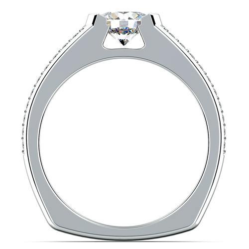 Pave Diamond Euro Shank Ring 2