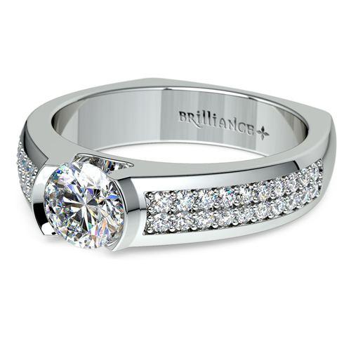 Pave Diamond Euro Shank Ring 3
