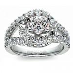 Split Shank Diamond Wrap Ring in Platinum