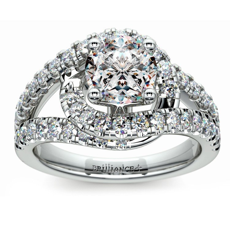 Split Shank Diamond Wrap Ring in Platinum