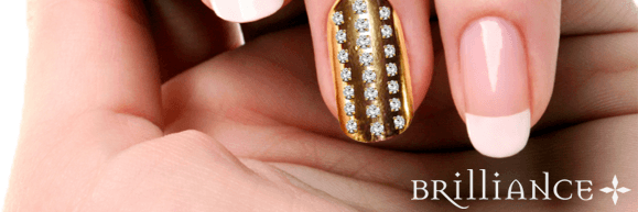 Yellow Gold Nail With Diamonds