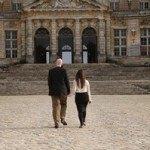 Approaching the chateau Vaux Le Vicomte.