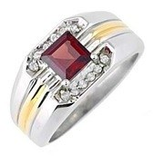 Men's Ruby Fashion Ring