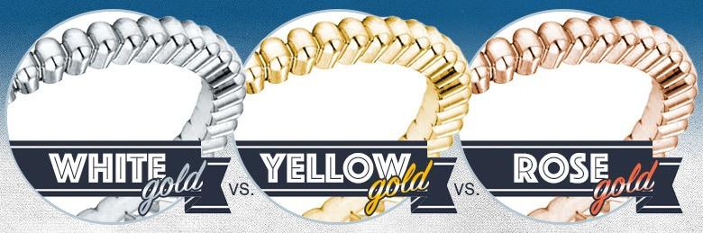 White Gold vs. Yellow Gold vs. Rose Gold Rings