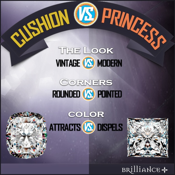 Cushion Vs Princess comparison