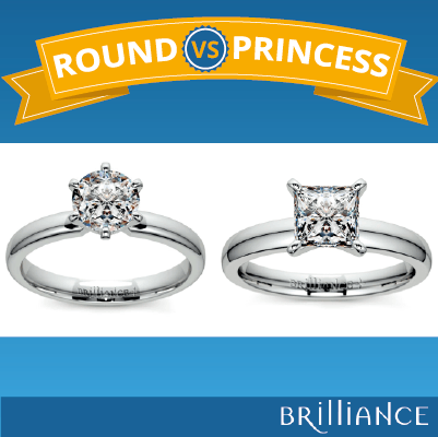 Princess cut vs Round