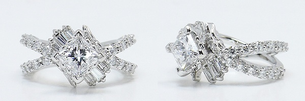 Fancy Diamond Ring in Platinum