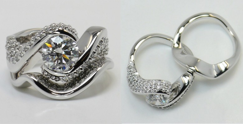 custom-made-engagement-rings-wave