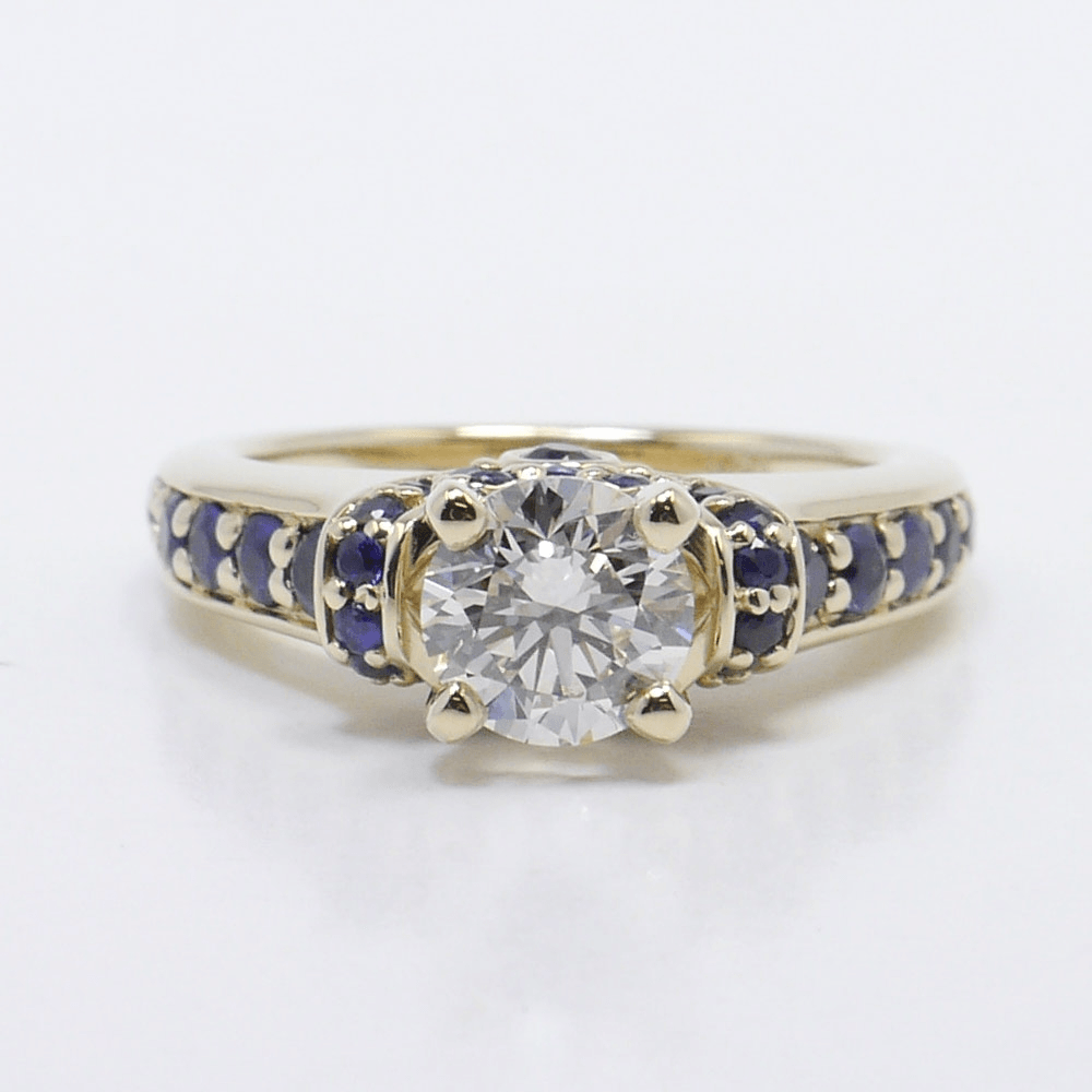 Ribbon Sapphire Gemstone Ring