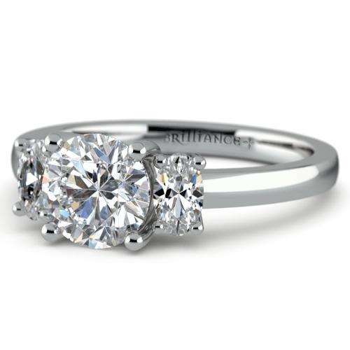 Oval Diamond Engagement Ring in Platinum