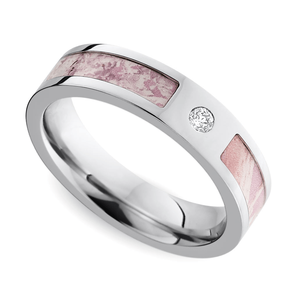Pink Camo Diamond Ring